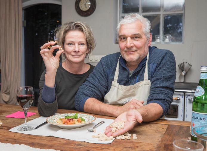 Marijk en André met hun Zeeuwse pasta.
