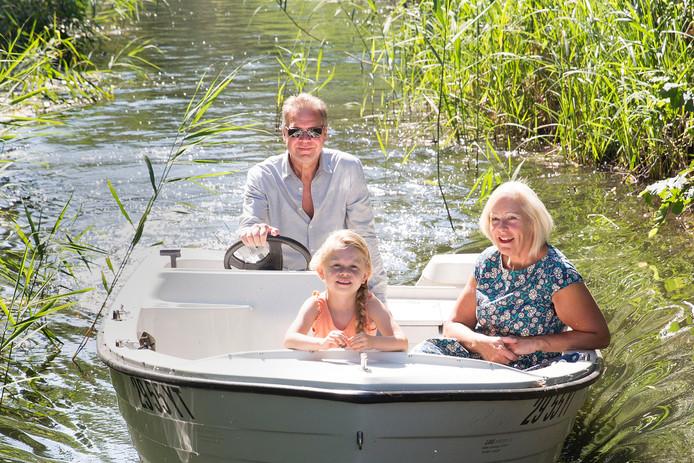 Dick & Saskia Daalhof (hier met kleindochter) volgden een Pensioen-In-Zicht-cursus.
