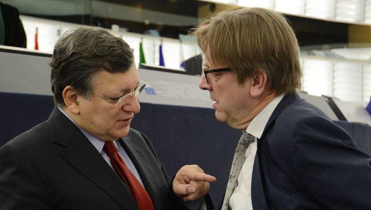 De VVD betuigt haar steun aan een 'volbloed euro-federalist' als Guy Verhofstadt als opvolger van Jose Manuel Barroso. Beeld epa