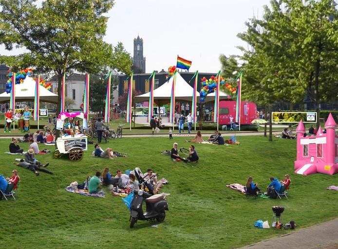 Het Midzomergrachtfestival in Utrecht.