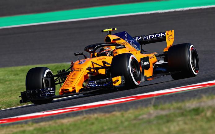 De wagen van McLaren in 2018.