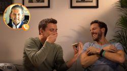 VIDEO. Niels Destadsbader en Guga Baúl proberen ex-topref De Bleeckere peer te stoven, maar dat loopt niet zoals gepland