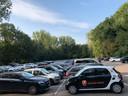 De parkeerplaats bij hockeyclub Oranje-Rood aan de Charles Roelslaan in Eindhoven wordt (gedeeltelijk) natuurgebied als de Park & Ride aan de Aalsterweg klaar is, eind 2020.