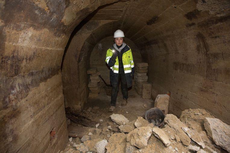 De pas ontdekte schuilkelders uit de Tweede Wereldoorlog.