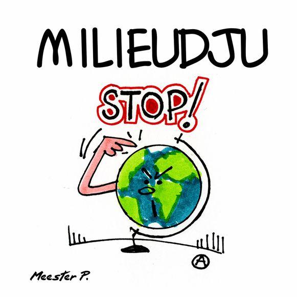 De cover van het album is een cartoon van André Nollet.