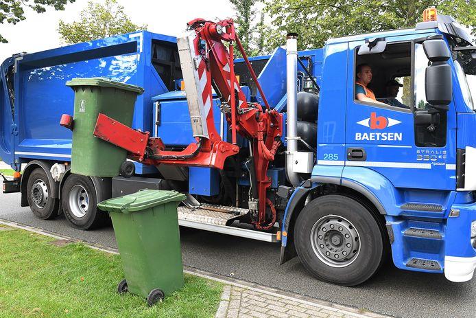 Gft-afval wordt met als het andere afval nu nog ingezameld door Baetsen maar dat contract loopt op 1 januari af.