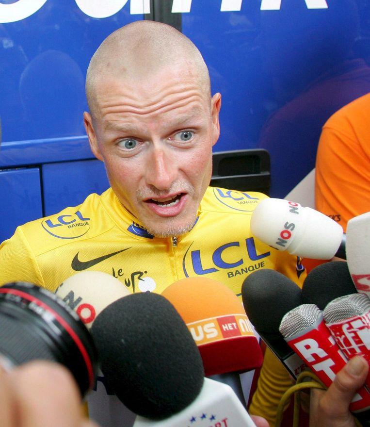 Wielrenner Michael Rasmussen werd in 2007 uit de Tour de France genomen vanwege dopinggebruik. Beeld epa