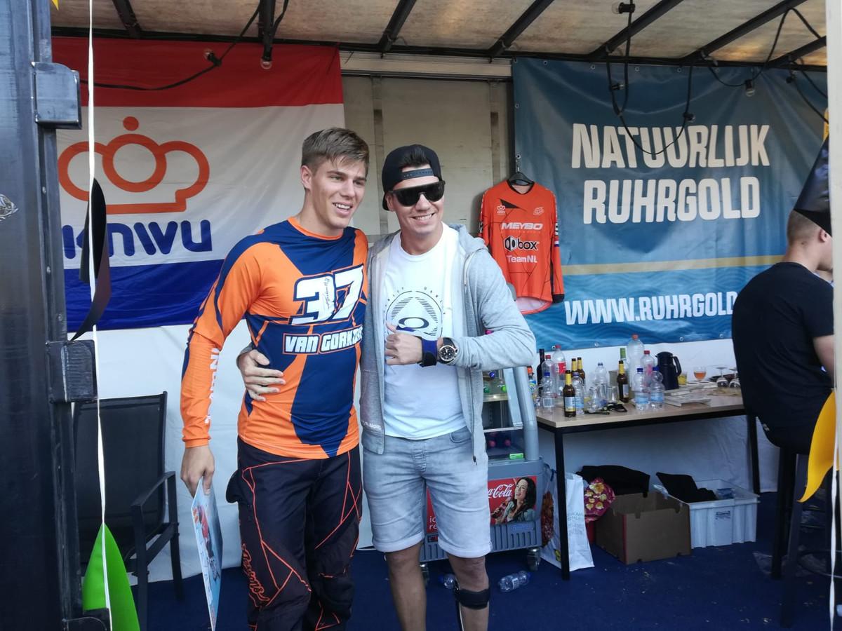 Niek Kimmann, die won in Haaksbergen, samen met Jelle van Gorkom.