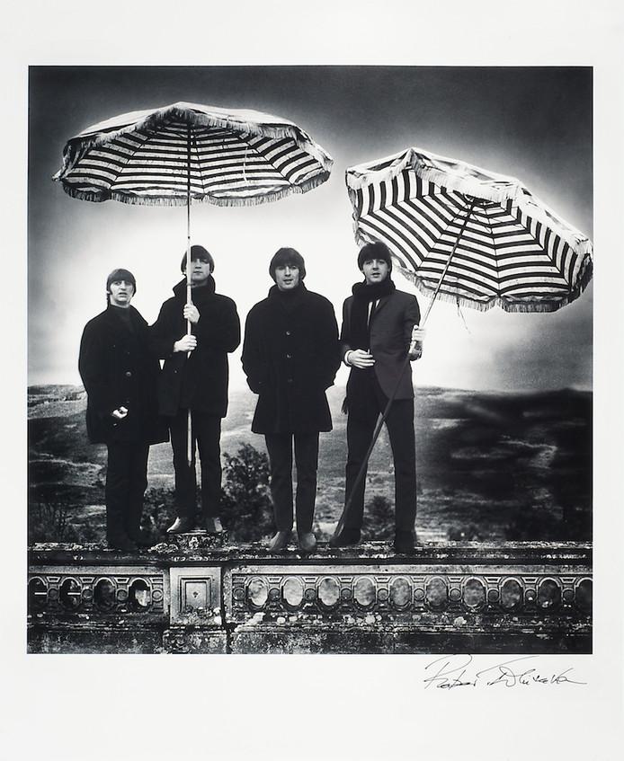Één van de door fotograaf Robert Whitaker gesigneerde foto's uit de privécollectie van De Lange.