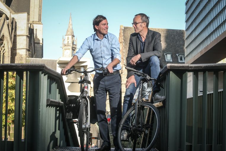 Kandidaat-burgemeesters Mathias De Clercq en Filip Watteeuw.