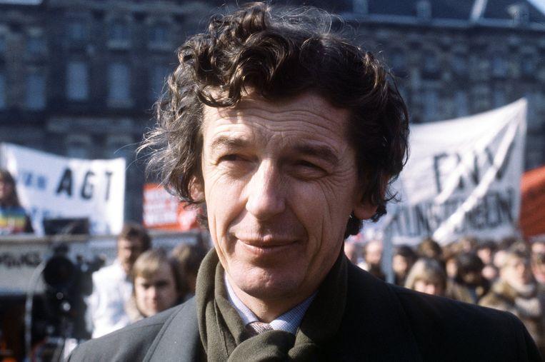 Wim Kok tijdens een massale demonstratie van de FNV (1986). Beeld ANP