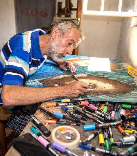 Graffitikunstenaar NOWART en de indringende ogen van Vincent van Gogh