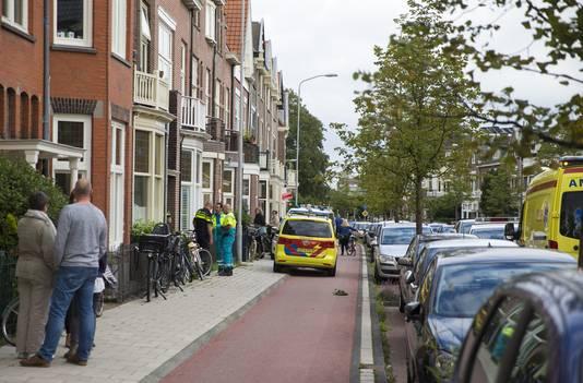 Hulpdiensten bij de woning van Zwagerman, vandaag in Haarlem.