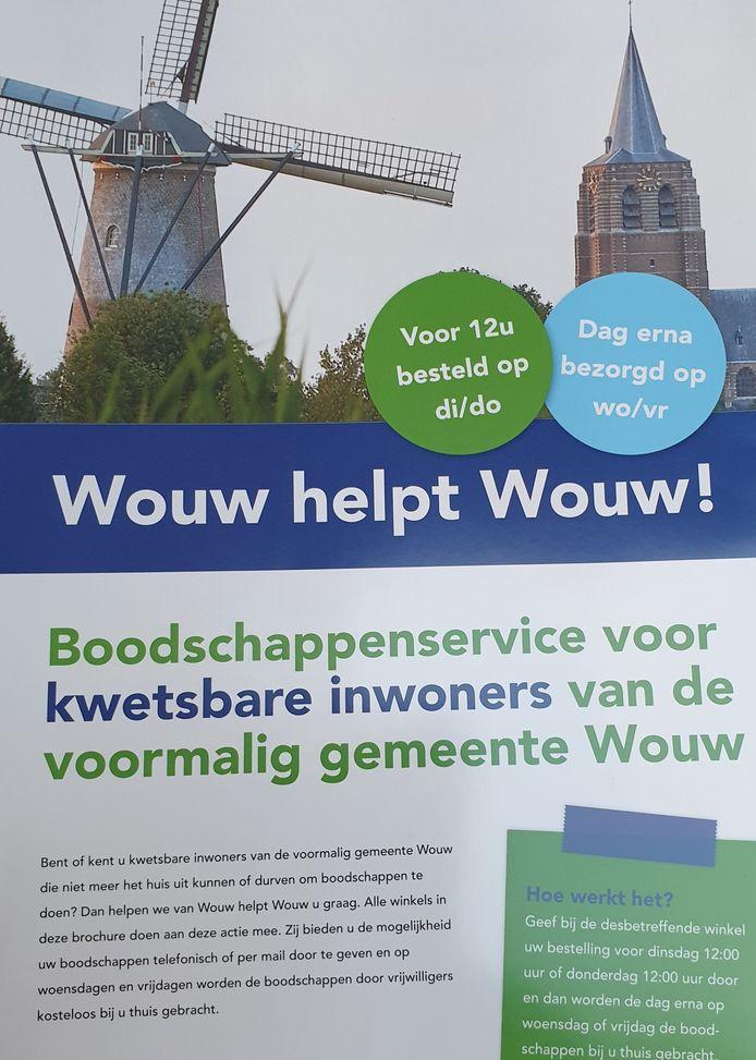 De flyer van Wouw helpt Wouw!