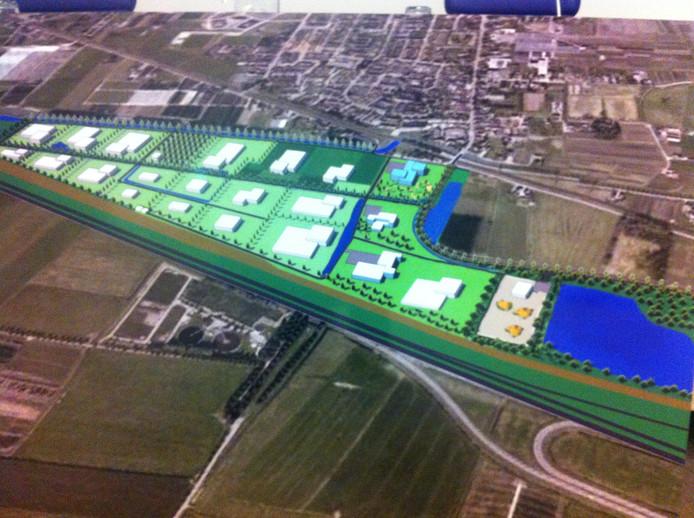 Een impressie van hoe het Agro Business Centrum bij Opheusden eruit kan gaan zien.