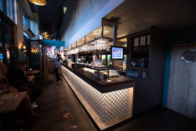 Het gloednieuwe interieur van Brasserie 360 in Genk sinds een maand.
