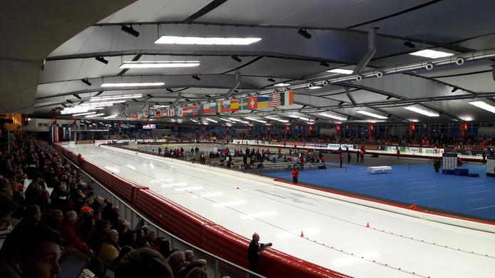 De schaatsbaan Max Aicher Arena in Inzell.
