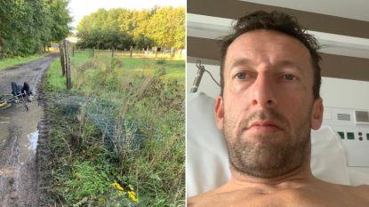 """Vanhoenacker had geen gevoel in armen en benen na zware val met mountainbike: """"Ik was zo bang"""""""