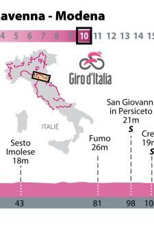 Kansen voor sprinters in tiende etappe in Giro