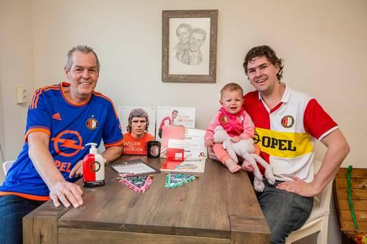 Peter van Koppen links. Zoon Dave van Koppen rechts.