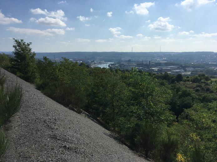 Les terrils offrent une vue imprenable sur Liège.