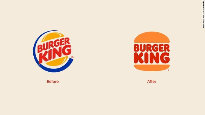 Het huidige logo (links) en het nieuwe logo (rechts).