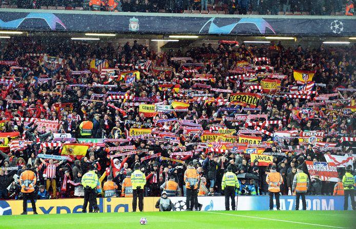 Feest in het volle uitvak na de zege van Atlético.