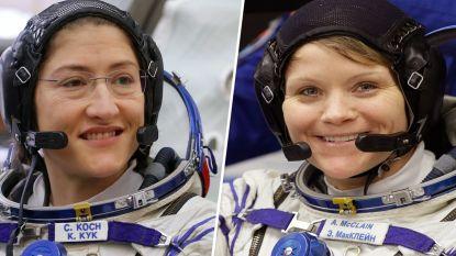 Historisch moment uitgesteld: vrouwelijke ruimtewandeling geannuleerd omdat ruimtepakken niet passen