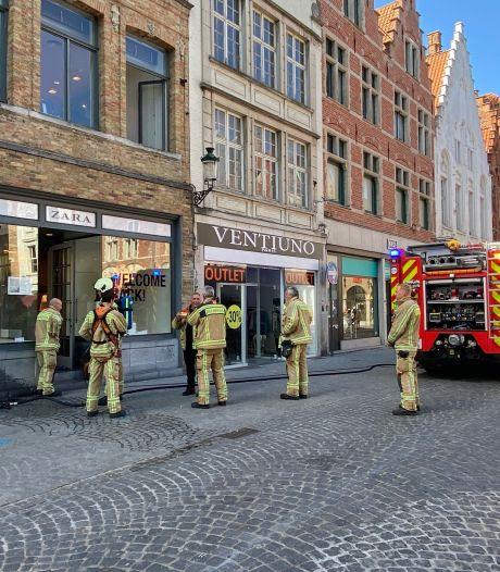 Brand in kelder van modewinkel Zara in Steenstraat snel onder controle