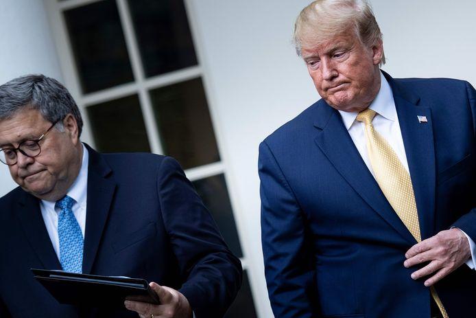 Bill Barr et Donald Trump, en juillet 2019