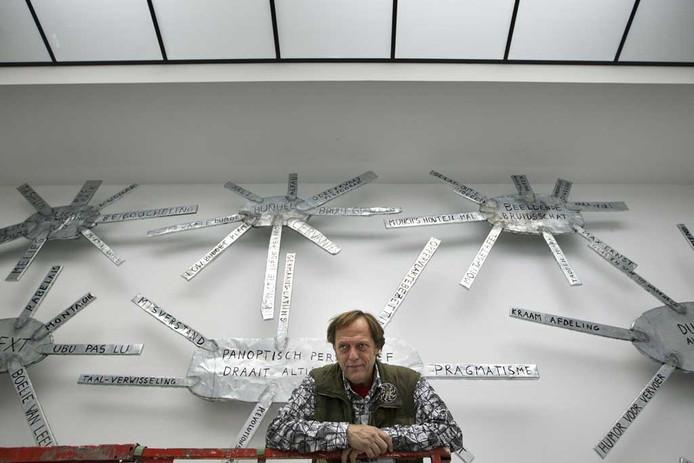 Dick Verdult in het Van Abbemuseum. Foto Kees Martens