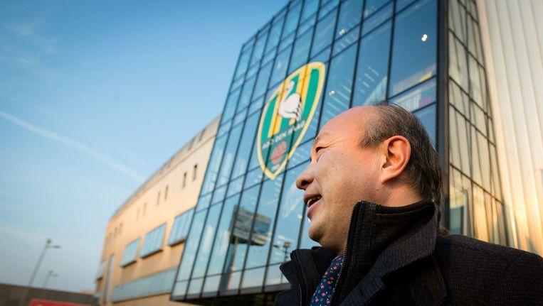 Hui Wang, eigenaar van ADO Den Haag, verlaat na een aandeelhoudersvergadering het Kyocera stadion, 10 maart 2016. Beeld anp