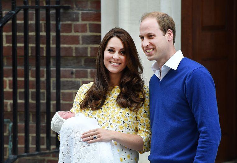 Kate Middleton in 2015, slechts enkele uren na de geboorte van haar dochter Charlotte.