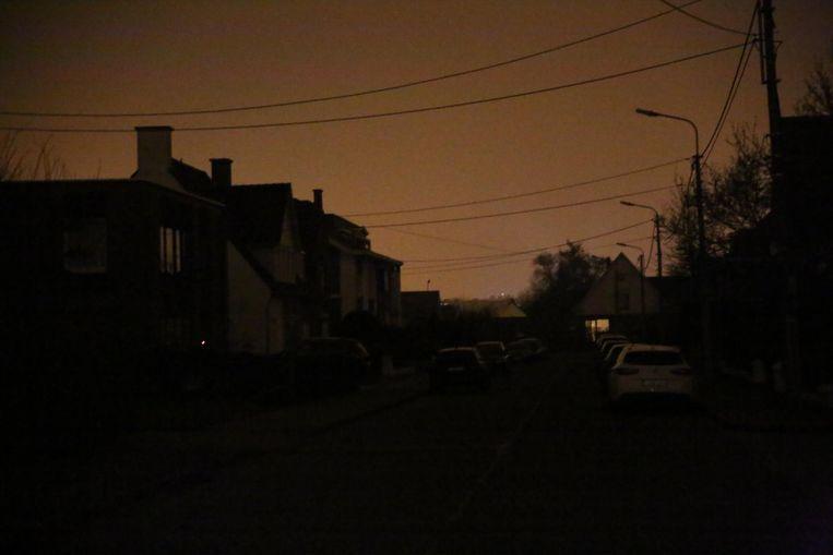 De wijk Pius X in het donker.