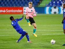 Door De Jong veroorzaakte penalty kost Barcelona de kop tegen Getafe