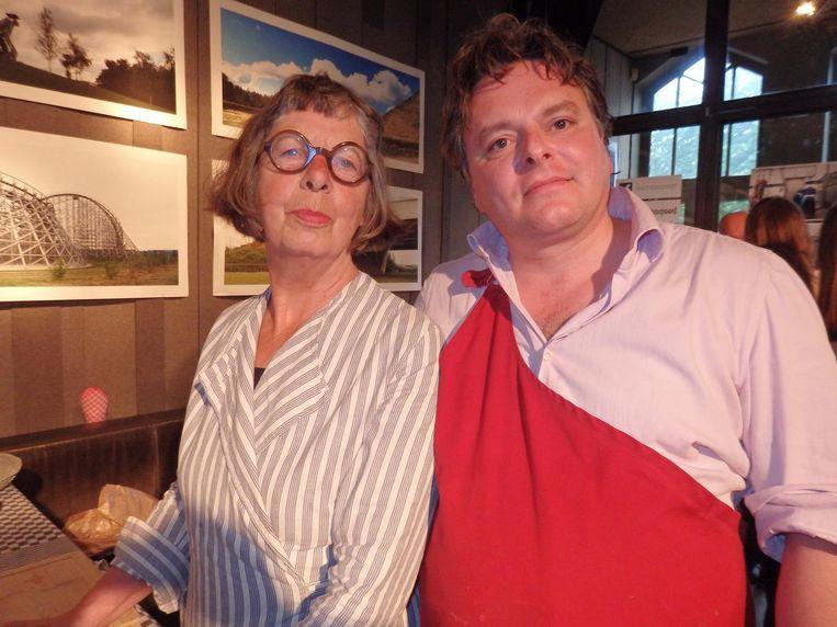 Diny Schouten en Floris Brester van de Pasteibakkerij. Zij serveren rillettes van ¿ uitdrukking van de dag ¿ verguisde gans Beeld Schuim