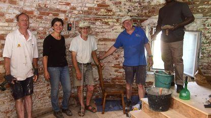Vrijwilligers aan de slag in de Flietermolen