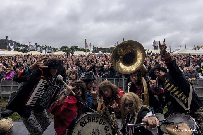Blaas of Glory op Wacken Open Air. Eigen foto