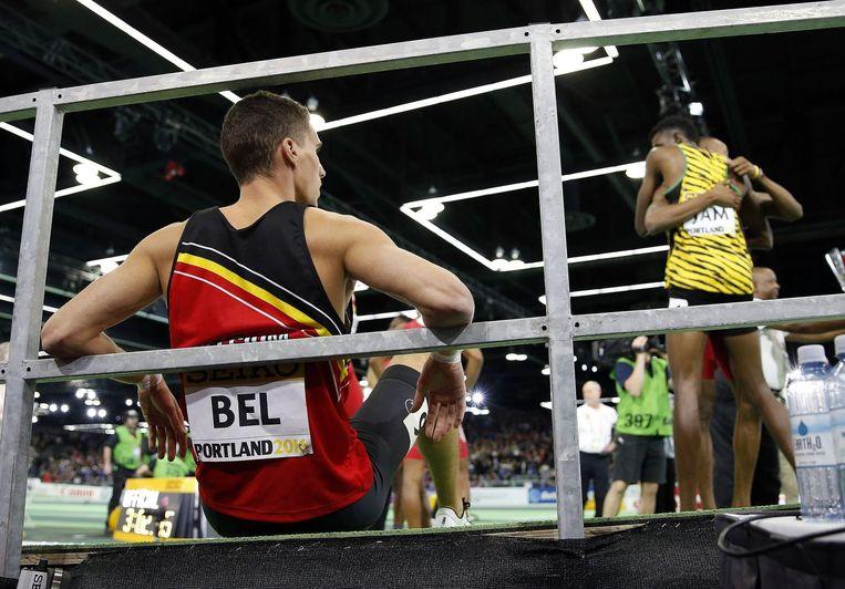 Belgische atleten, de gebroeders Borlée, in Portland USA Beeld photo_news