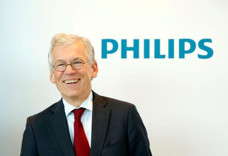 Philips-topman Frans van Houten verwacht grote belangstelling voor de huishouddivisie van het elektronicaconcern. Beeld Reuters