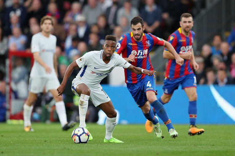 Charly Musonda Junior in actie  tegen Crystal Palace.