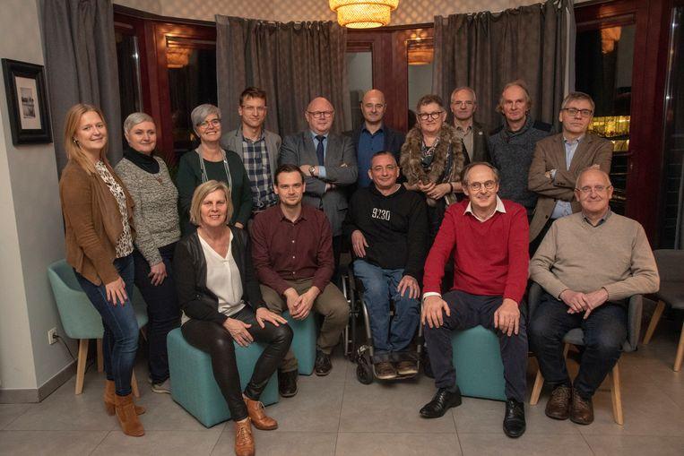 Meerderheidspartijen CD&V, Eén Wetteren, Groen&Co en Sp.a. plus vormen het bestuur in Wetteren.