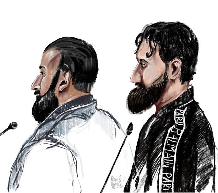 Julian M. (links) en Idris M. (rechts) blijven langer in de cel. Ze worden verdacht van een liquidatiepoging in 2016.
