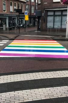 Eindelijk! Het regenboogzebrapad in Woerden  is hersteld