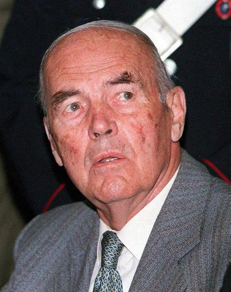 file picture dated 07 June 1996 showing former German SS officer Erich Priebke bij zijn rechtszaak wegens het doden van 335 Italianen inclusief 75 Joden in maart 1944 in de Ardeatine Caves bij Rome Beeld epa