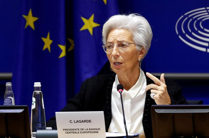ECB-voorzitster Christine Lagarde.