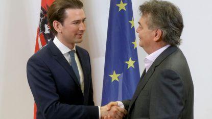 """Oostenrijkse kanselier Kurz gaat na extreemrechts nu regeren met groenen: """"Tegelijkertijd klimaat én grenzen beschermen"""""""