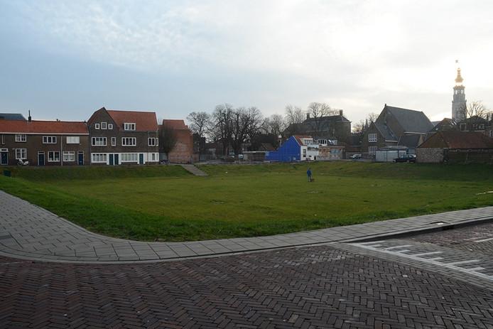 De bouwput aan de Zuidsingel in Middelburg.