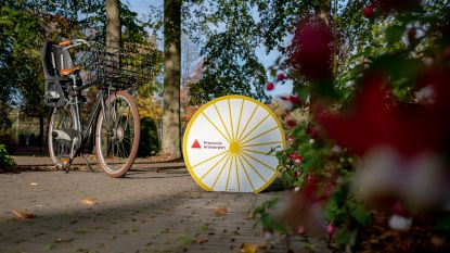 Fietspomp helpt fietsers Vrijbroekpark op weg