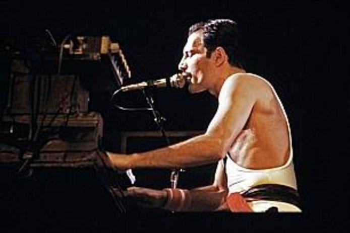 Freddie Mercury, leadzanger van Queen.